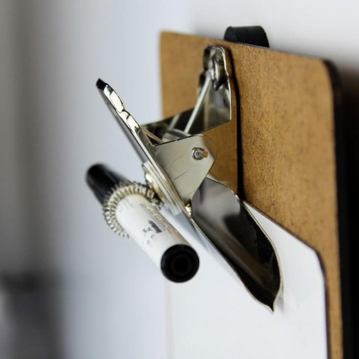 Clipboard, porte bloc solution magnétique