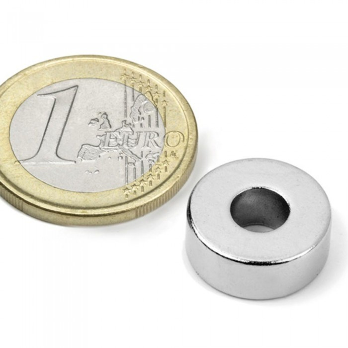 Aimant brut torique 15mm x 6mm x 6mm Puissance 5kg magnetique