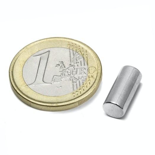 Aimant brut Diamètre 6mm Hauteur 10mm Puissance 1,5kg magnetique