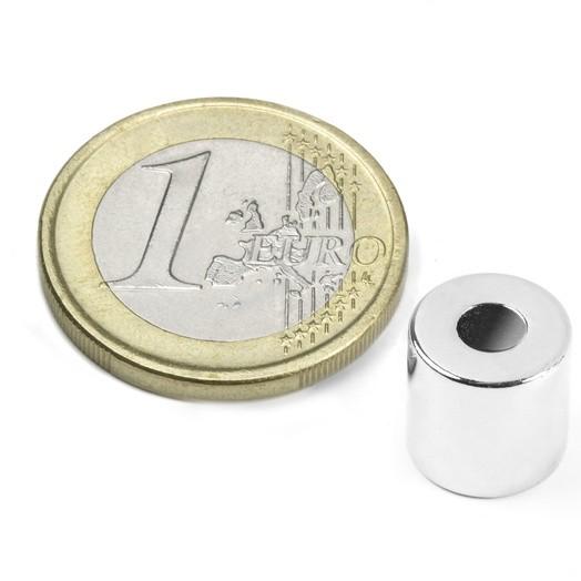 Aimant brut torique 10mm x 4mm x 10mm magnetique