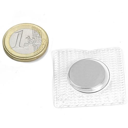 Aimant à coudre rond diametre 18mm - enveloppe carrée magnetique