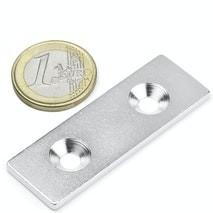 Contre-partie percée 60mm x 20mm magnetique