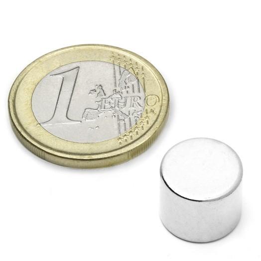 Aimant brut diametre 12mm x 10mm magnetique