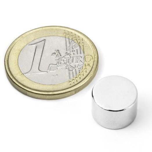 Aimant brut diametre 12mm x 8mm magnetique