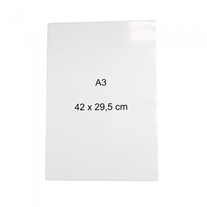 Lot de 5 pochettes magnétiques A3 raccourcies 295 x 440mm  magnetique