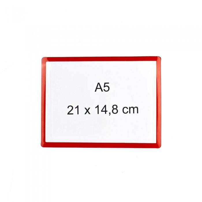 Pochette magnétique A5 bordure rouge Destockée magnetique