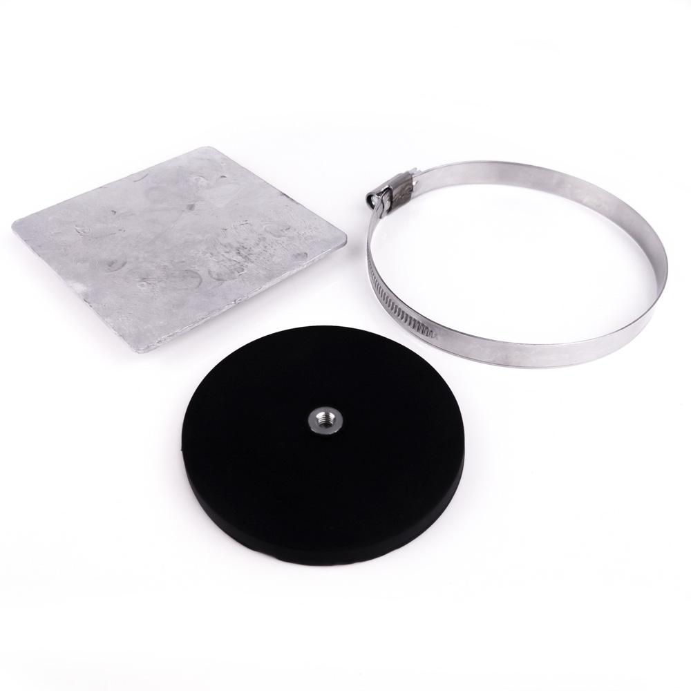 Kit plaque et plot magnétique 43mm à trou taraudé M4 - collier moyen magnetique