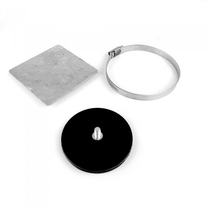 Kit plaque et plot magnétique 88mm à tige filetée M8 - collier moyen magnetique