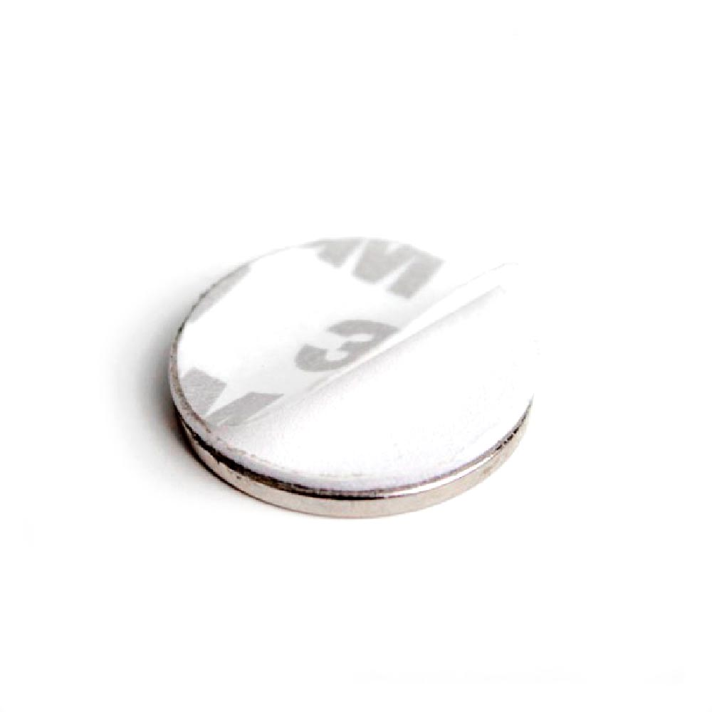 Aimant brut diametre 25mm x 2mm ADHESIF magnetique
