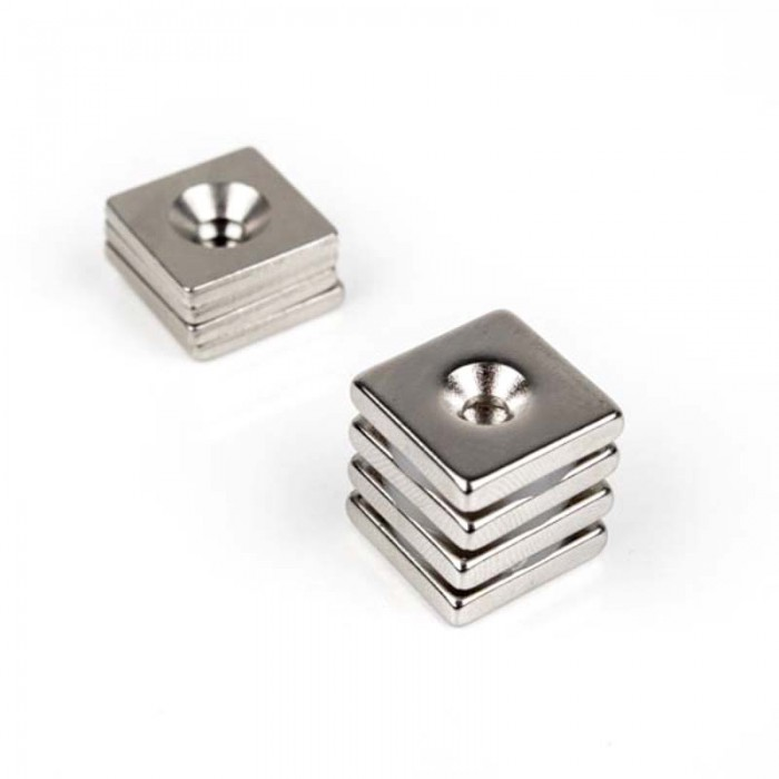 Kit de fixation à viser 20mm x 20mm x 4mm magnetique