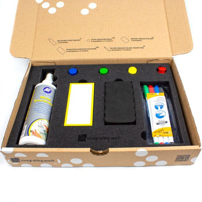 Kit pour tableau avec étiquettes magnétiques couleurs magnetique