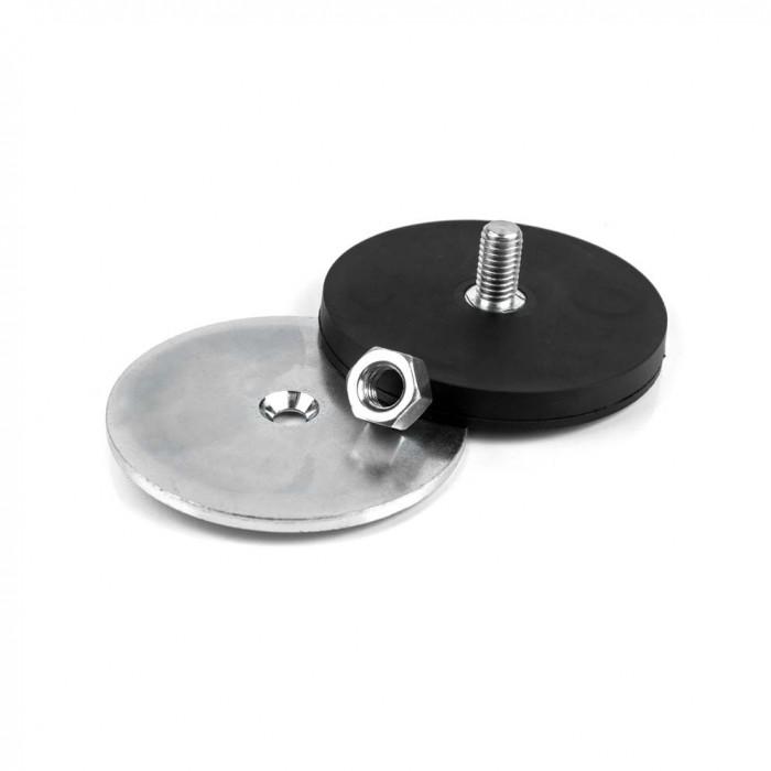 Kit de fixation magnétique à visser antiglisse à tige fileté 66mm magnetique