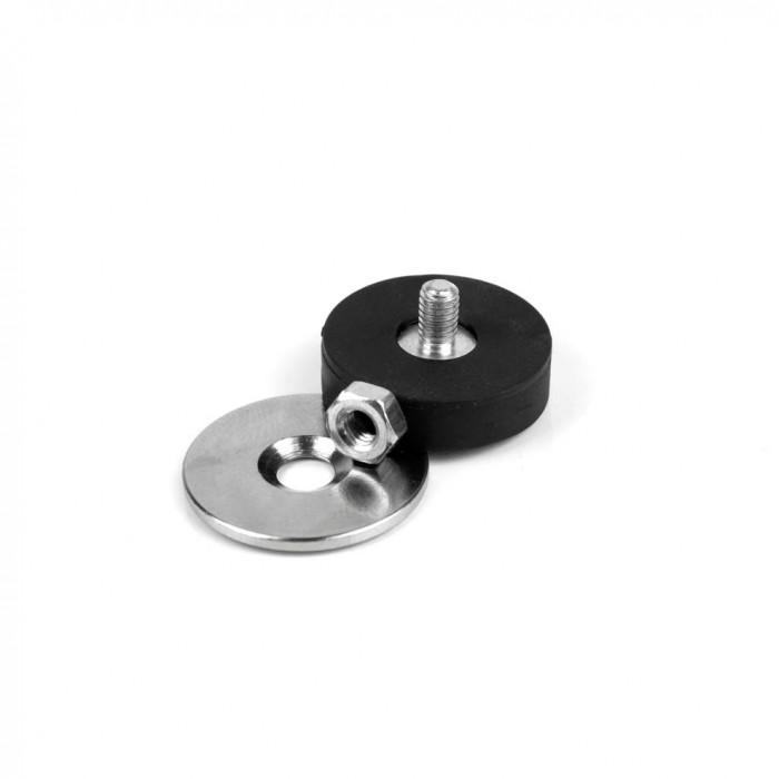 Kit de fixation magnétique à visser antiglisse à tige fileté 22mm magnetique