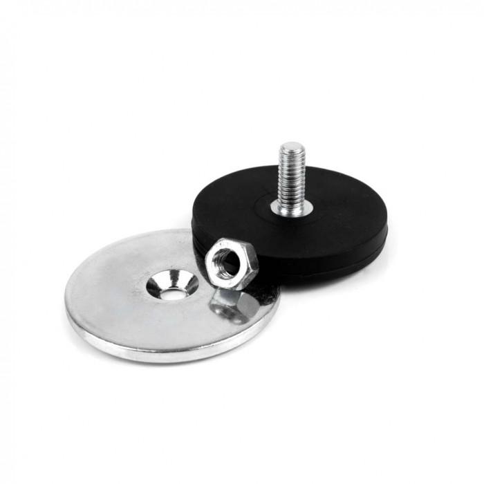 Kit de fixation magnétique à visser antiglisse à tige fileté 43mm magnetique