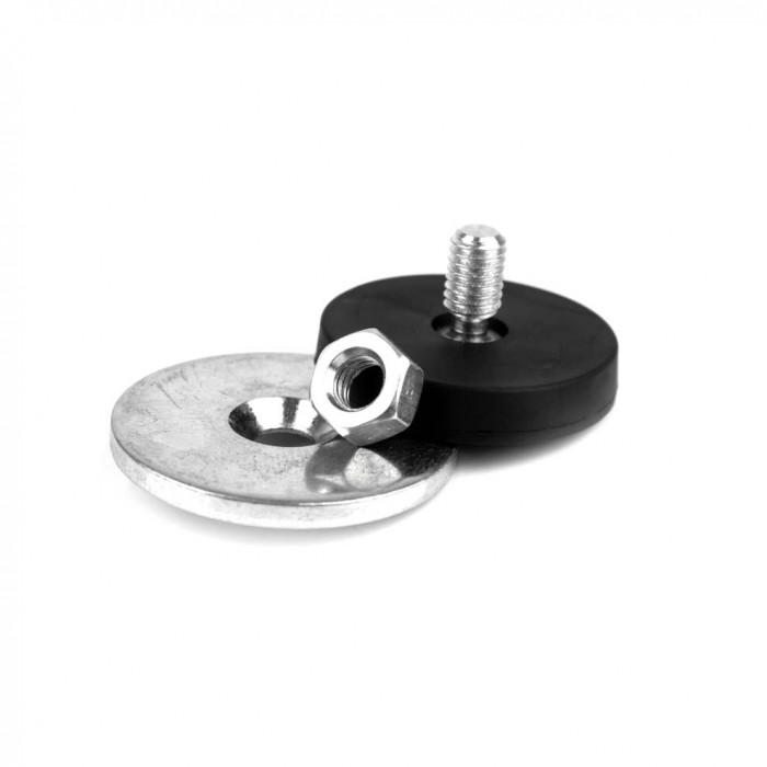 Kit de fixation magnétique à visser antiglisse à tige fileté 31mm magnetique