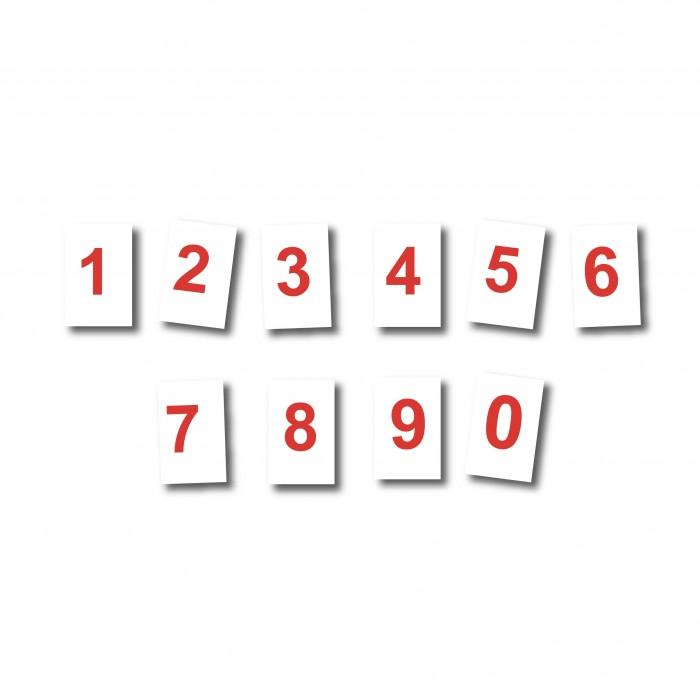 Magnet Chiffre rouge 25 cm fond blanc magnetique