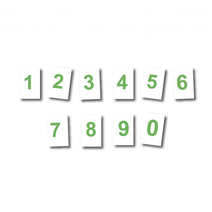 Magnet Chiffre vert 25 cm fond blanc magnetique