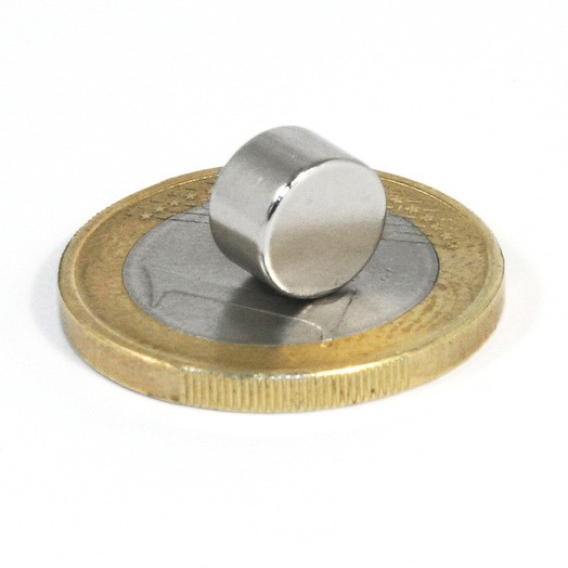 Aimant brut diametre 8mm x 5mm magnetique