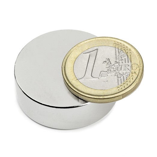 Aimant brut diametre 30mm x 10mm magnetique