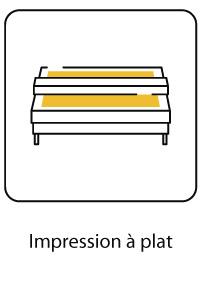 Impression numérique à plat