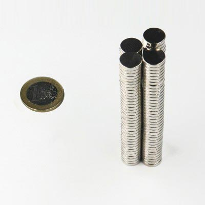 Aimant brut diametre 10mm x 2mm magnetique