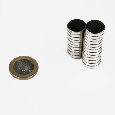 Aimant brut diametre 15mm x 3mm magnetique