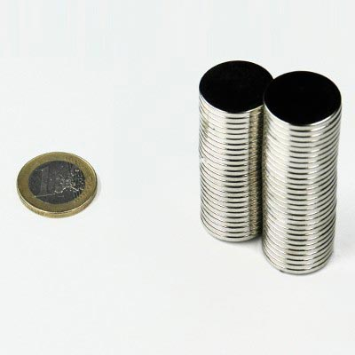 Aimant brut diametre 20mm x 2mm magnetique