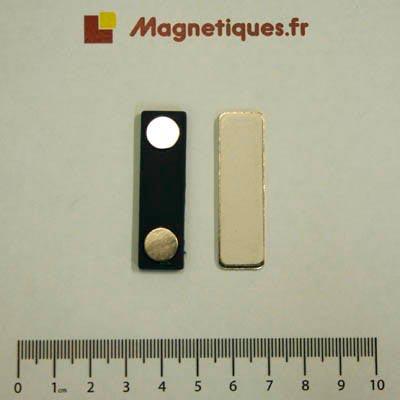 Barrette porte badge magnétique Aimants néodymes
