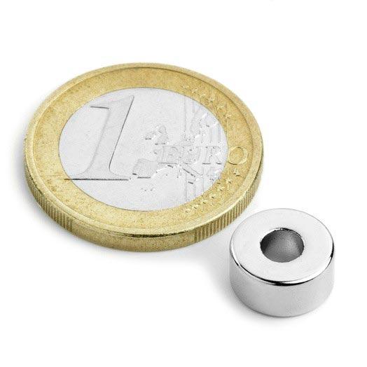Aimant brut torique 10mm x 4mm x 5mm magnetique