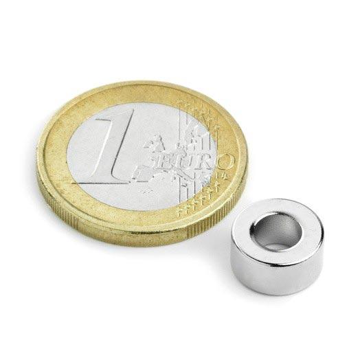 Aimant brut torique 10mm x 5mm x 5mm magnetique