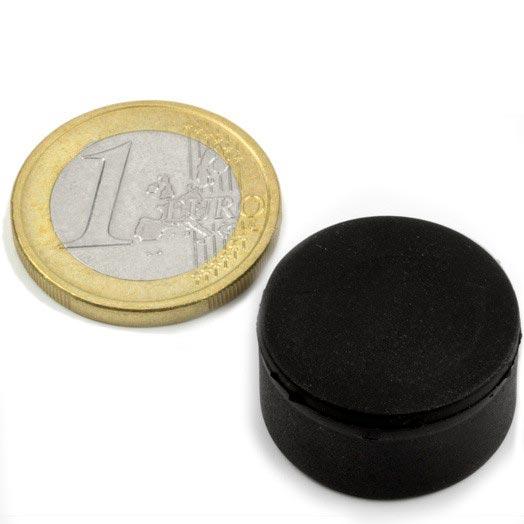 Aimant brut diametre 22mm x 11,4mm caoutchouc magnetique