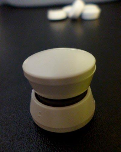 Aimants bloc blanc rond 19mm x 8mm ferrite magnetique