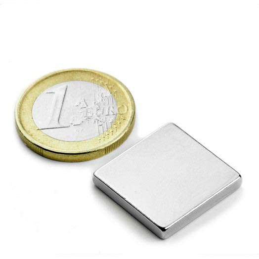Aimant brut 20mm x 20mm x 3mm magnetique