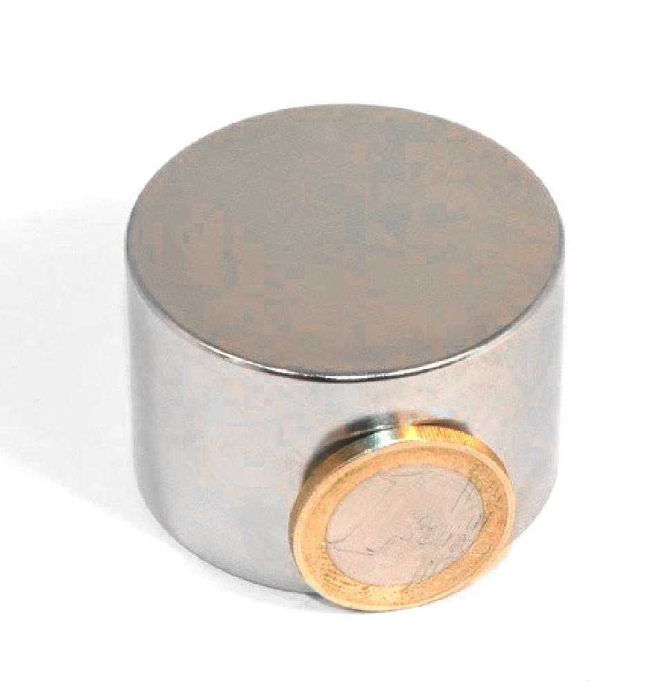 Aimant brut diametre 45mm x 30mm magnetique