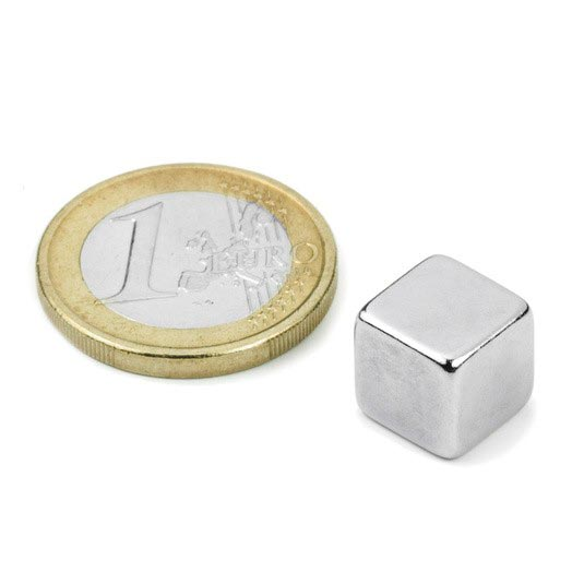Aimant brut 10mm x 10mm x 10mm  magnetique
