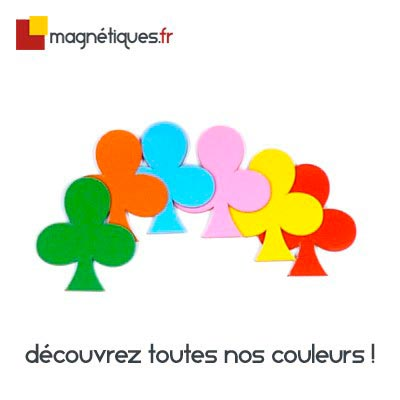 Magnet TREFLE 80mm couleur magnetique