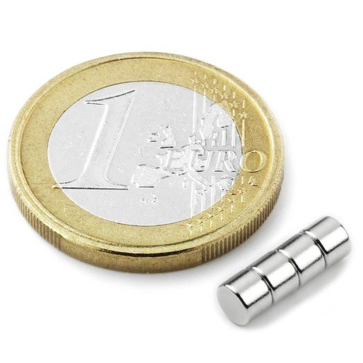 Aimant néodyme brut diametre 4mm x 3mm magnetique