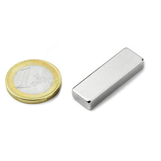 Aimant brut 30mm x 10mm x 5mm magnetique