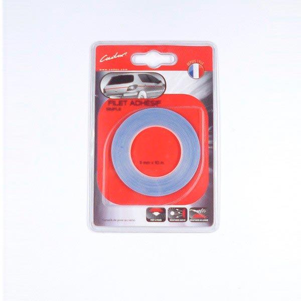 Filet adhésif bleu 3mm  magnetique