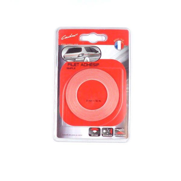 Filet adhésif rouge 3mm  magnetique
