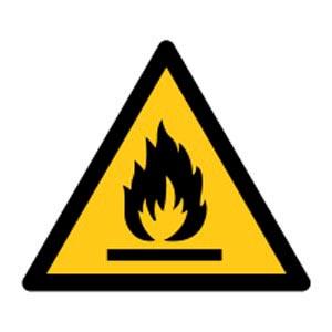Signalétique magnétique danger - flamme magnetique