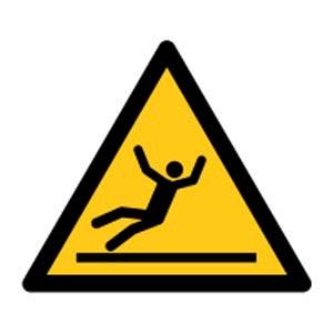 Signalétique magnétique danger - sol glissant magnetique