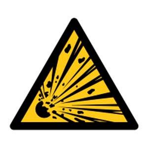 Signalétique magnétique danger - explosion magnetique