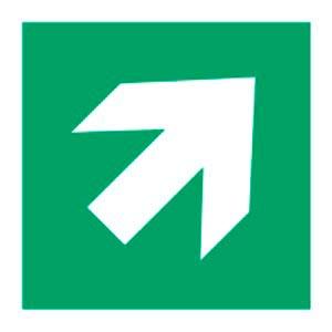 Signalétique magnétique direction haut droit magnetique