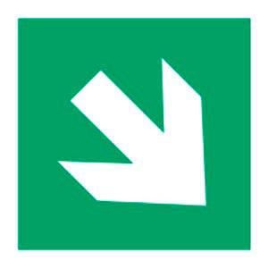 Signalétique magnétique direction bas droit magnetique