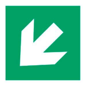 Signalétique magnétique direction bas gauche magnetique