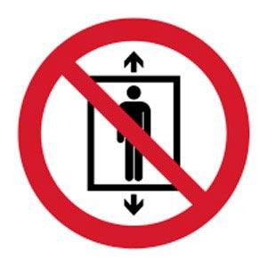 Signalétique magnétique ascenseur interdit magnetique