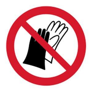Signalétique magnétique ne pas porter de gant magnetique