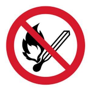 Signalétique magnétique flamme nue interdite magnetique