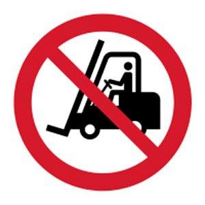 Signalétique magnétique véhicule industriel interdit magnetique